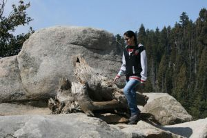 Standing on a rock by MandoGirl22