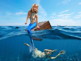 Mermaid Angelique ~ a role reversal by sirenabonita