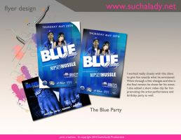The Blue Party Flyer by thatladyj
