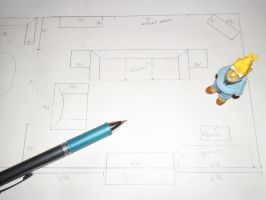Plans for The Simpsons Project WIP 2: Living Room by kayanah