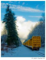 Yellow Train by butterfly36rs