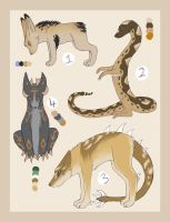 Desert Adopts -- CLOSED by Painted-Shadow