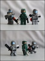 Spartan and ODSTs by ejaylee