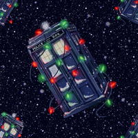 TARDIS Christmas wallpaper by Alex-Plalex
