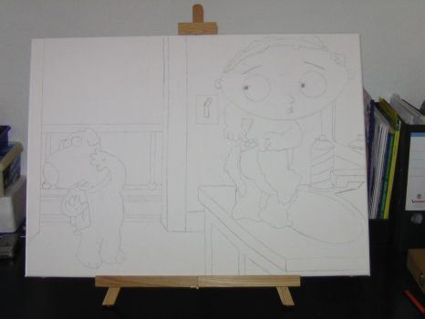 Stewie Griffin with background by Don-Dima