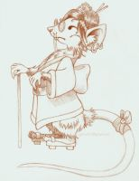 Remiko Pencil Drawing by Faeriedreamer