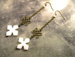 Long Chain Endless Knot Earrings by FantasyAlley