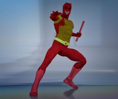 Daredevil classic costume 2nd skin textures for M4 by hiram67