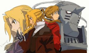 Edward and Al Elric by NommyPanda