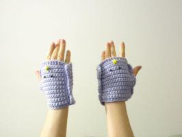 ADVENTURE TIME LSP Fingerless Gloves by annemisfit
