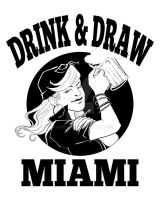 Drink and Draw Miami by OrangeCurl