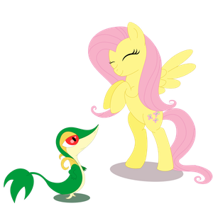 Da la imagen que te piden ^o^ Fluttershy_and_snivy_by_blooddragonx-d463suy