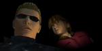Wesker and little Sherry by Sherringui