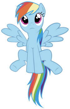 MLP - Rainbow Dash Vector Trace by ElderKain