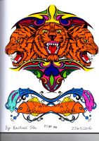 Tattoos Tigers and Fish by Scarlet1449