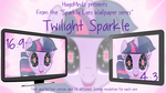 Sparkly Eyes Wallpaper pack - Twilight Sparkle by HugoMndz