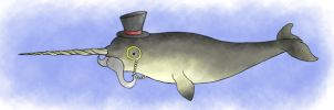 Gentleman Narwhal by Akei-Tyrian