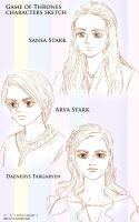 Game of Thrones characters sketch (study) by noji1203