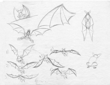 Gargoyle wing sketches page 1 by BUdraw-81