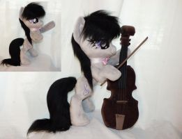 Octavia with her cello by Epicrainbowcrafts