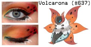 Pokemakeup 637 Volcarona by nazzara