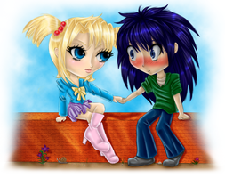 Kiddyshipping For SamCyberCat by Sarky-Sparky