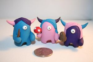 Three Friends - Timid Monsters by TimidMonsters