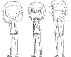 Me and my lovers! xD Line art by Britty-Mae