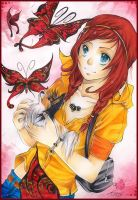 Red-Butterfly by Miyasaki-Kogaji