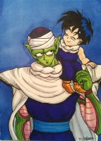 Gohan and Piccolo Coloured by shadesoflove