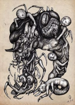 Monster No.26 : Morphology Class in Hell by atati23