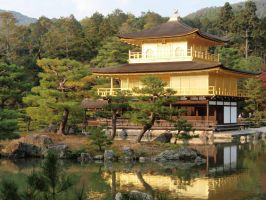 Kinkaku-ji Temple 03, Kyoto, Japan by mac-chipsie