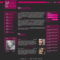 Music Guide Web Interface by Smytt