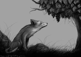 Fox and grapes_2012 by LinkDrawings
