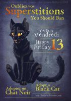 Friday the 13th - Adopt a Black Cat ! by Lougaria