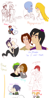 draw ALL of the couples by hellpassion