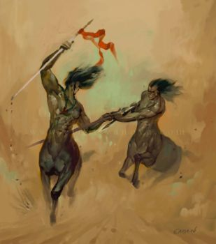 centaurs race by vertebra