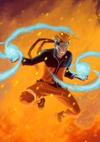 Naruto Double Rasengan by Yizard