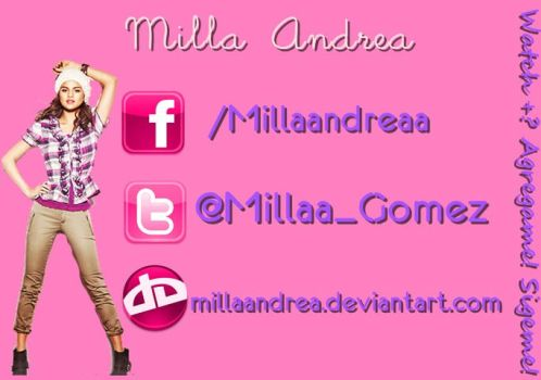 My Facebook y Twitter by MillaAndrea