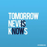 Tomorrow is now. by eatthewords