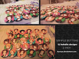 Hetalia buttons set 1 by kyunyo