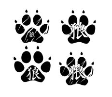 wolf paw tattoo for a friend by Kairi292