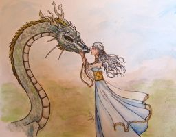 Dragon and Aminael for Kimir-ra by shadowzabimaru