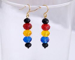 Colorful crystal earrings E967 by Fleur-de-Irk