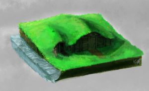 A litte House in a hill by omtay