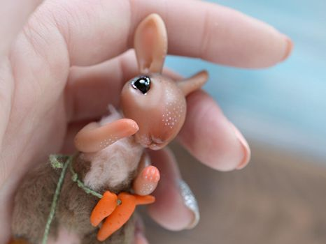 The Little Rabbit with carrot by SulizStudio