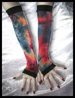 Dragon Breath Long Arm Warmers by ZenAndCoffee