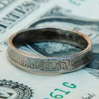 A Quarter Turned Into a Ring by metalsmitten