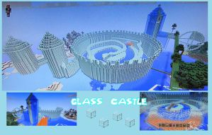 minecraft glass castle by amiemo---1