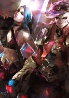 Vi and Jinx by talitapersi